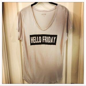 "✨Lt Gray ""Hello Friday"" Graphic Tee"
